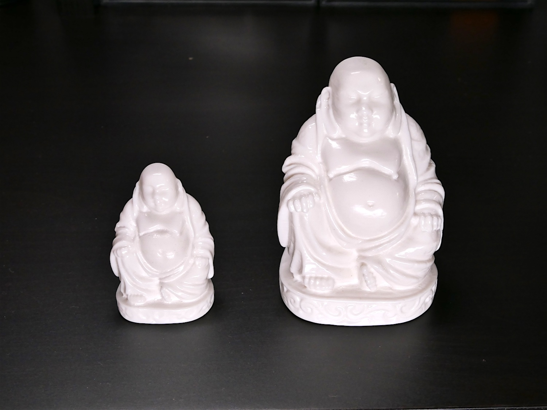 Buddha bianco stampato in 3D con Polysmooth