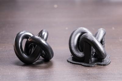 Knot prima e dopo la levigatura con il polysher della polymaker