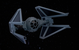 Tie Fighter Stampato in 3d