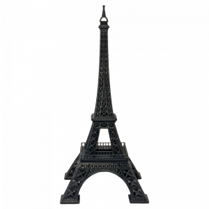 Torre Eiffel Stampata in 3D a resina black